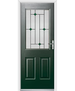 Ultimate Windsor Rockdoor in Emerald Green with Green Diamonds