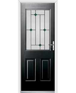 Ultimate Windsor Rockdoor in Onyx Black with Green Diamonds