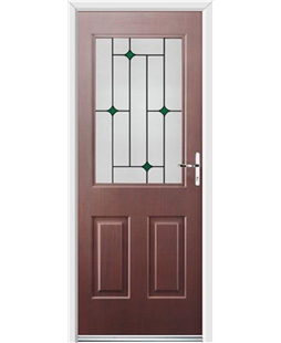 Ultimate Windsor Rockdoor in Rosewood with Green Diamonds