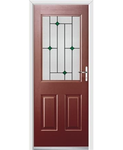 Ultimate Windsor Rockdoor in Ruby Red with Green Diamonds