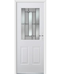 Ultimate Windsor Rockdoor in Blue White with Linear Glazing