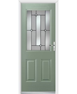 Ultimate Windsor Rockdoor in Chartwell Green with Linear Glazing