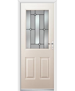 Ultimate Windsor Rockdoor in Cream with Linear Glazing
