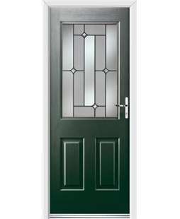 Ultimate Windsor Rockdoor in Emerald Green with Linear Glazing