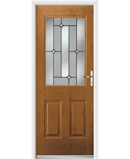 Ultimate Windsor Rockdoor in Irish Oak with Linear Glazing