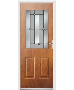 Ultimate Windsor Rockdoor in Light Oak with Linear Glazing