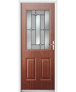 Ultimate Windsor Rockdoor in Mahogany with Linear Glazing