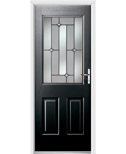 Ultimate Windsor Rockdoor in Onyx Black with Linear Glazing