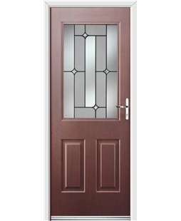 Ultimate Windsor Rockdoor in Rosewood with Linear Glazing