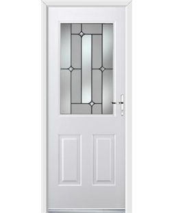 Ultimate Windsor Rockdoor in White with Linear Glazing