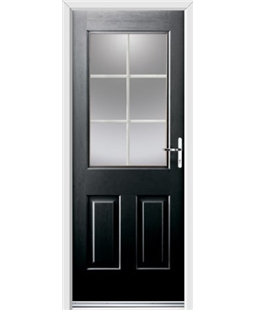 Ultimate Windsor Rockdoor in Onyx Black with White Georgian Bar