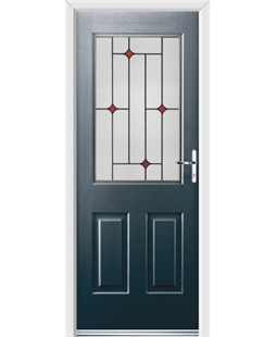 Ultimate Windsor Rockdoor in Anthracite Grey with Red Diamonds