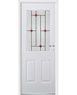 Ultimate Windsor Rockdoor in Blue White with Red Diamonds