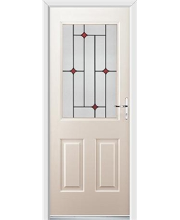 Ultimate Windsor Rockdoor in Cream with Red Diamonds