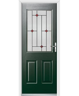 Ultimate Windsor Rockdoor in Emerald Green with Red Diamonds
