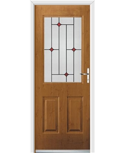 Ultimate Windsor Rockdoor in Irish Oak with Red Diamonds