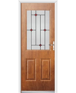 Ultimate Windsor Rockdoor in Light Oak with Red Diamonds