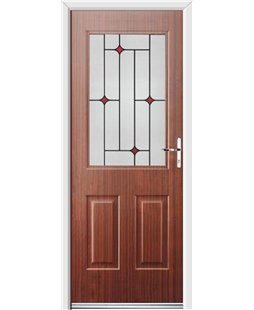 Ultimate Windsor Rockdoor in Mahogany with Red Diamonds