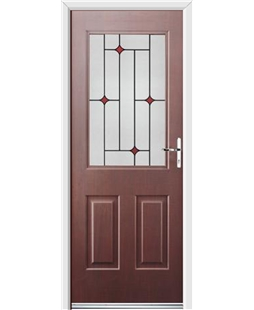 Ultimate Windsor Rockdoor in Rosewood with Red Diamonds