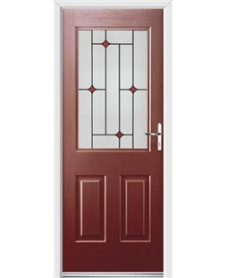 Ultimate Windsor Rockdoor in Ruby Red with Red Diamonds