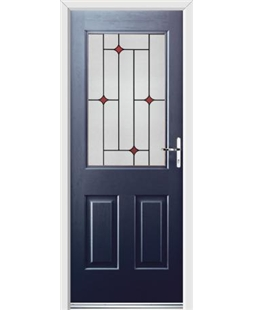 Ultimate Windsor Rockdoor in Sapphire Blue with Red Diamonds