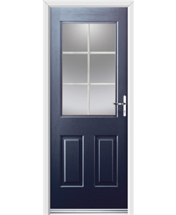 Ultimate Windsor Rockdoor in Sapphire Blue with White Georgian Bar