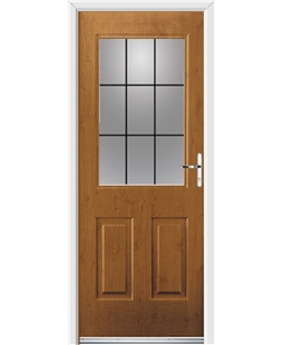 Ultimate Windsor Rockdoor in Irish Oak with Square Lead