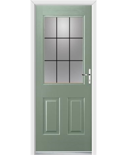 Ultimate Windsor Rockdoor in Chartwell Green with Square Lead