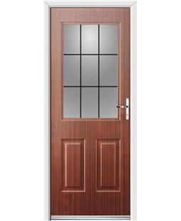Ultimate Windsor Rockdoor in Mahogany with Square Lead