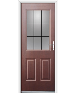 Ultimate Windsor Rockdoor in Rosewood with Square Lead