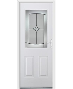 Ultimate Windsor Rockdoor in Blue White with Summit Glazing