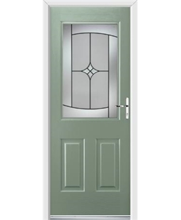 Ultimate Windsor Rockdoor in Chartwell Green with Summit Glazing