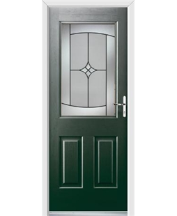 Ultimate Windsor Rockdoor in Emerald Green with Summit Glazing