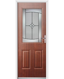 Ultimate Windsor Rockdoor in Mahogany with Summit Glazing