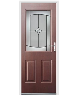 Ultimate Windsor Rockdoor in Rosewood with Summit Glazing