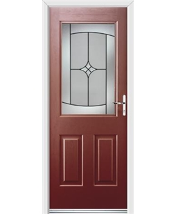 Ultimate Windsor Rockdoor in Ruby Red with Summit Glazing
