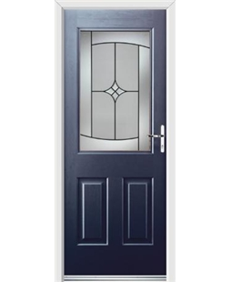 Ultimate Windsor Rockdoor in Sapphire Blue with Summit Glazing