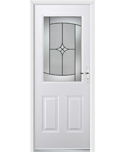 Ultimate Windsor Rockdoor in White with Summit Glazing