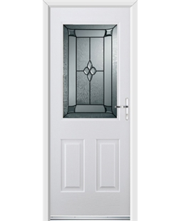 Ultimate Windsor Rockdoor in Blue White with Titania Glazing