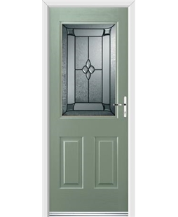 Ultimate Windsor Rockdoor in Chartwell Green with Titania Glazing