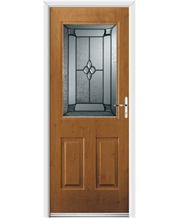 Ultimate Windsor Rockdoor in Irish Oak with Titania Glazing