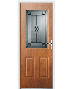 Ultimate Windsor Rockdoor in Light Oak with Titania Glazing