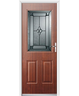 Ultimate Windsor Rockdoor in Mahogany with Titania Glazing