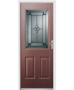 Ultimate Windsor Rockdoor in Rosewood with Titania Glazing
