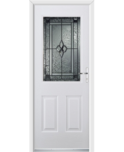 Ultimate Windsor Rockdoor in Blue White with Triton Glazing