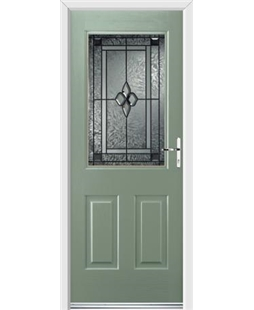 Ultimate Windsor Rockdoor in Chartwell Green with Triton Glazing