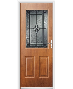 Ultimate Windsor Rockdoor in Light Oak with Triton Glazing