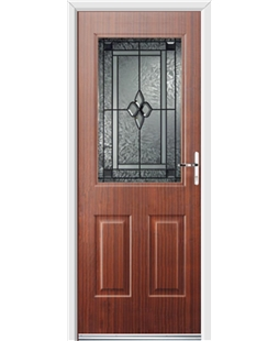 Ultimate Windsor Rockdoor in Mahogany with Triton Glazing