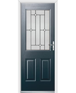 Ultimate Windsor Rockdoor in Anthracite Grey with White Diamonds