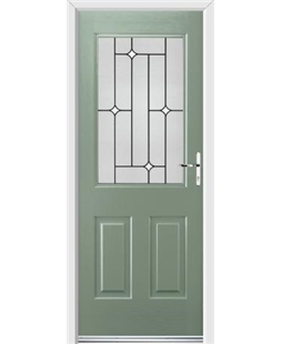 Ultimate Windsor Rockdoor in Chartwell Green with White Diamonds